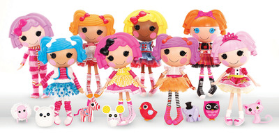 "MGA Entertainment launches Bitty Buttons(TM), a unique and whimsical collection of eight different 13"" rag dolls who magically came to life when their very last stitch was sewn. Each Bitty Button(TM) was born on a special day in history and has her own personality developed by the fabrics used to make her. Designed to encourage a child's imagination and creativity, Bitty Buttons(TM) teaches important life lessons such as diversity, individuality and the idea that everything deserves a second life. (PRNewsFoto/MGA Entertainment, Inc.)"