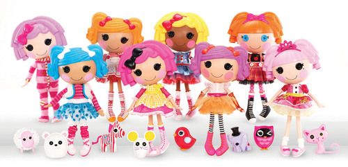 """MGA Entertainment launches Bitty Buttons(TM), a unique and whimsical collection of eight different 13"""" rag dolls who magically came to life when their very last stitch was sewn. Each Bitty Button(TM) was born on a special day in history and has her own personality developed by the fabrics used to make her. Designed to encourage a child's imagination and creativity, Bitty Buttons(TM) teaches important life lessons such as diversity, individuality and the idea that everything deserves a second life. (PRNewsFoto/MGA Entertainment, Inc.)"""