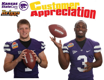Join Kansas State Cars and Briggs Auto for Customer Appreciation Night, with Chris Harper and Collin Klein!    (PRNewsFoto/Briggs Auto Group)