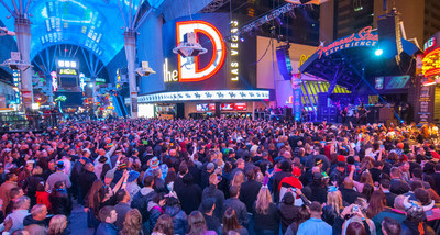 Thousands gather at one of Fremont Street Experience's Concerts