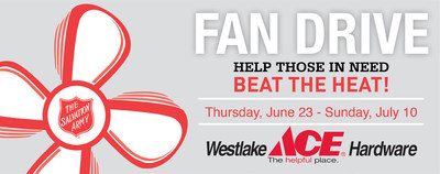 Westlake Ace Hardware teams up with The Salvation Army to raise money for fans.
