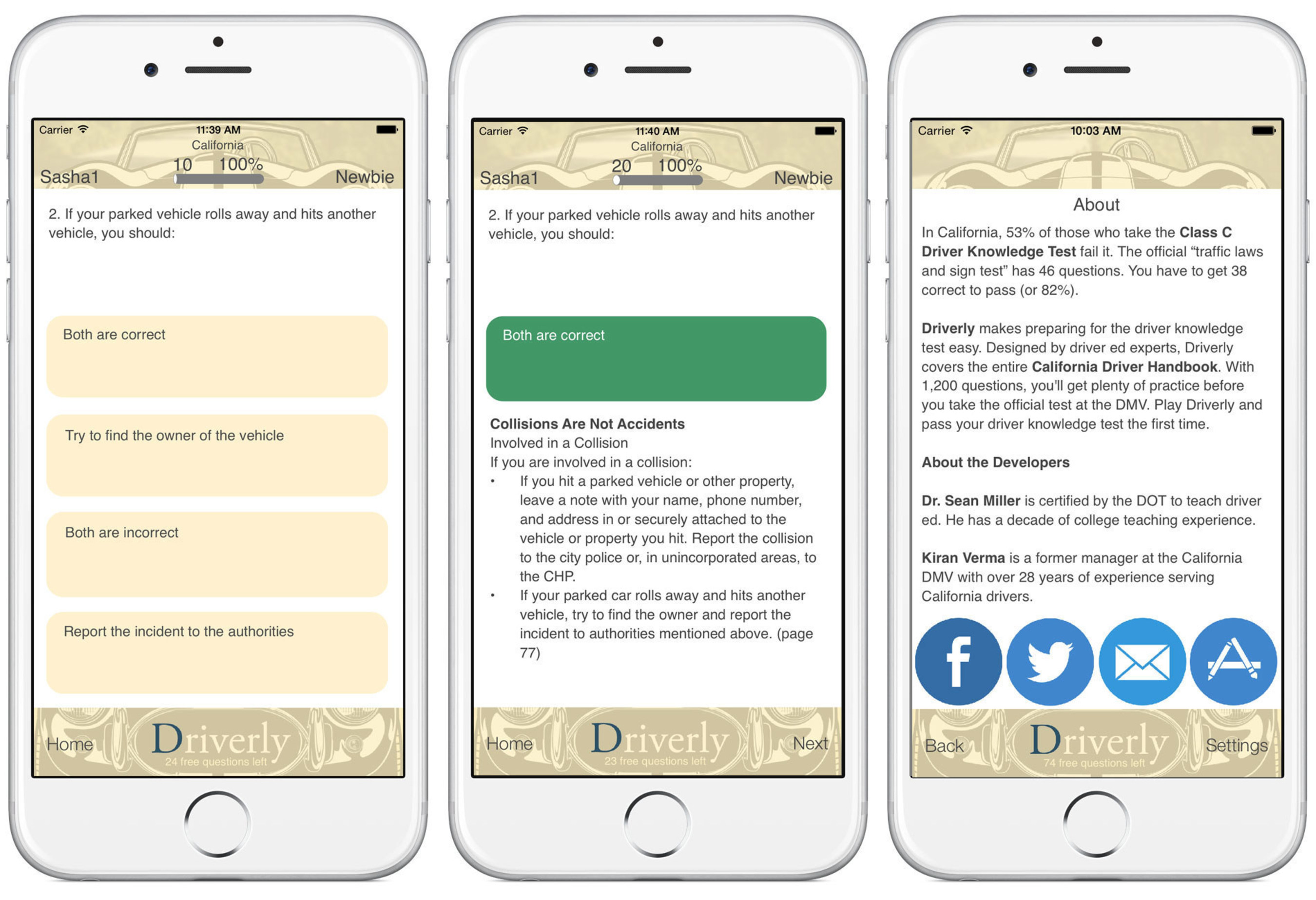 New Mobile App, Driverly, Helps California Residents Ace the DMV Driver Knowledge Test