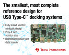 TI's multiport minidock reference design speeds development of USB Type-C and Power Delivery docking stations