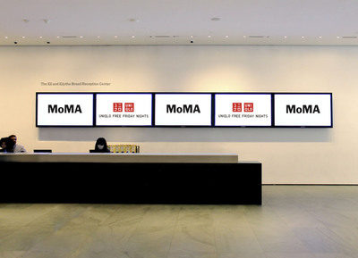The Museum of Modern Art (MoMA) and UNIQLO announced today that UNIQLO, the global clothing retailer, will be the exclusive, multi-year, corporate sponsor of the Museum's Friday night free admission program, which provides free access to the public to the Museum and all exhibitions from 4:00 to 8:00 p.m., every Friday, throughout the year.  (PRNewsFoto/UNIQLO)