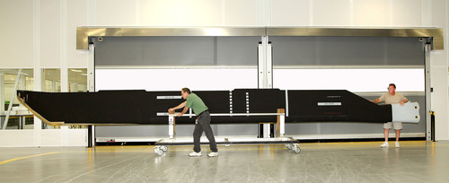 At 35 feet (10.6 m) span length, and almost three feet (0.9 m) chord width, the all-composite main rotor blade ...