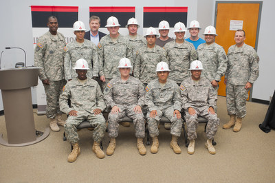 """Georgia Power welcomes veterans as new employees through the """"Troops to Energy Jobs"""" program at Fort Stewart near Savannah in 2014."""