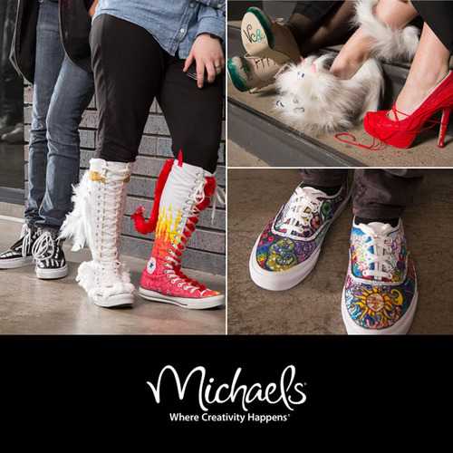 Michaels DIY Graduation Shoes.  (PRNewsFoto/Michaels Stores, Inc.)