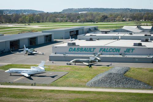 Dassault Falcon completion center in Little Rock, Arkansas (PRNewsFoto/Dassault Falcon)