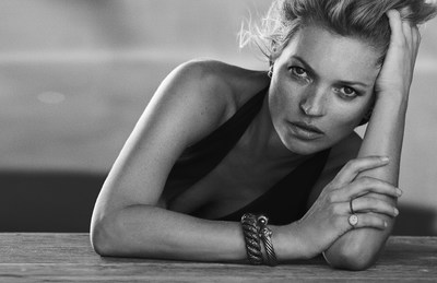 David Yurman Enduring Style Fall 2014 Campaign with Kate Moss- Campaign Photo Credit: Peter Lindbergh (PRNewsFoto/David Yurman)