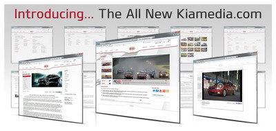 The all-new Kiamedia virtual pressroom is live now. Go to www.kiamedia.com.  (PRNewsFoto/Kia Motors America)