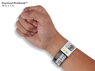 Download Wristbands.  (PRNewsFoto/CD Baby)