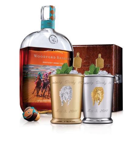 Woodford Reserve announces the $1,000 Mint Julep Cup for charity at the Kentucky Derby on May 3, 2014. Proceeds  ...