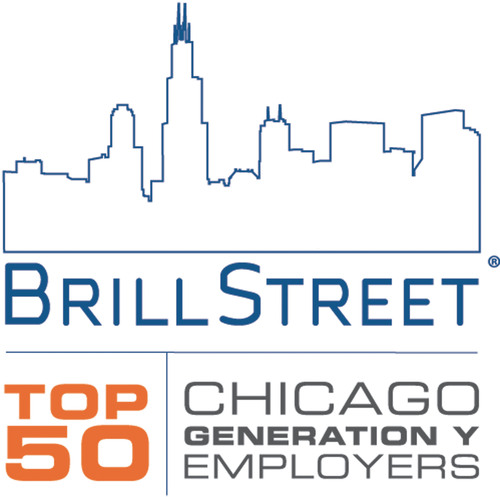Brill Street's Top 50 Employers for Gen Y Emerging Talent in Chicago.  (PRNewsFoto/Brill Street + Company)