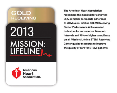 Mission: Lifeline Gold Level status recognition by the American Heart Association for Swedish Medical Center.  (PRNewsFoto/Swedish Medical Center)