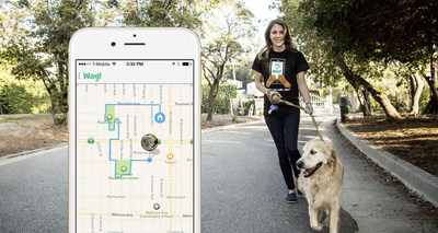 """On-demand dog walking app Wag! uses its GPS-enabled """"Puppy Tracker"""" to let pet parents follow their dog's walk. The app's """"pee"""" and """"poop"""" reports mark exactly where the pooch did its business. Wag! is available for iOS and Android."""
