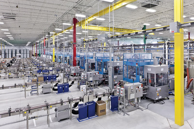 Plant producing rigid plastic containers for personal care products.  (PRNewsFoto/Sonoco)
