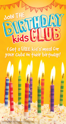 Ryan's, Old Country Buffet, HomeTown Buffet launch the Birthday Kids Club, a new incentive program tailored to kids. (PRNewsFoto/Ovation Brands) (PRNewsFoto/OVATION BRANDS)