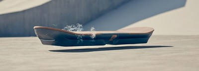 Luxury automotive brand Lexus creates hoverboard of the future by partnering with world leading experts in super conductive technology. (PRNewsFoto/Lexus International) (PRNewsFoto/Lexus International)
