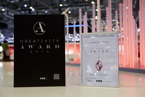 "Creativity Award by Club de PublicitÃ(C) et de Communication de Genève (CPG). Editorial use of this picture is free of charge. Please quote the source: ""obs/BORGWARD AG"" (PRNewsFoto/BORGWARD AG)"