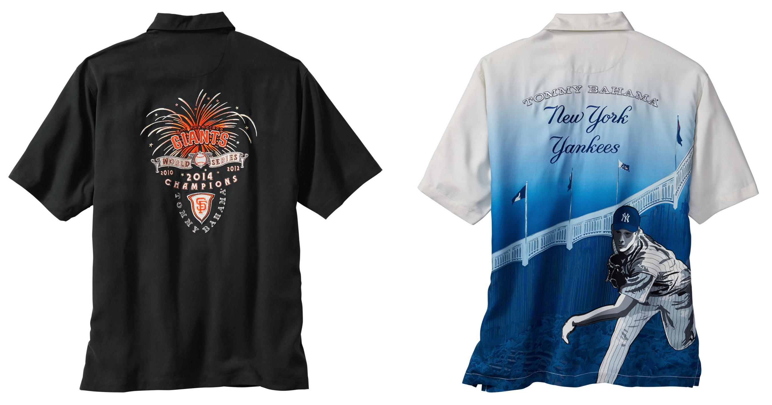 Tommy bahama announces 2015 major league baseball for Custom tommy bahama shirts
