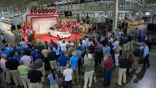 Kia Motors Manufacturing Georgia reaches one million U.S.-built vehicles milestone.  (PRNewsFoto/Kia Motors America)