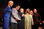 Madeleine Albright (center) accepts Thelonious Monk Institute of Jazz Founder's Award with Helen Mirren, Herbie Hancock, Aretha Franklin, Tipper Gore and Chris Botti.  Photo Courtesy of Thelonious Monk Institute Of Jazz.  (PRNewsFoto/Thelonious Monk Institute of Jazz)