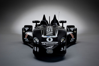 The Nissan DeltaWing is ready for racing at the Petit Le Mans at Road Atlanta on Oct. 20, 2012.  (PRNewsFoto/Nissan North America)