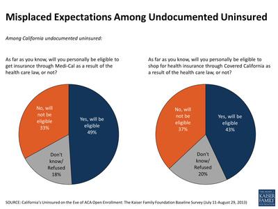 Misplaced Expectations Among Undocumented Uninsured.  (PRNewsFoto/Henry J. Kaiser Foundation)