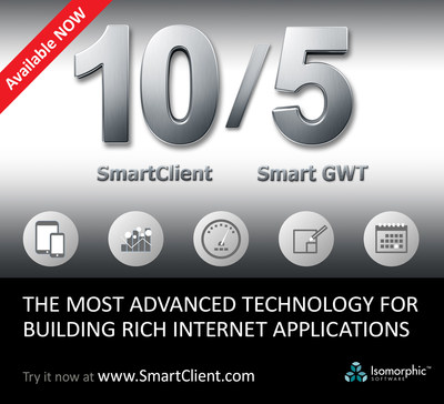 Isomorphic Software - provider of the most advanced, most complete HTML5 / AJAX technology for building Enterprise business applications - today released SmartClient 10.0 / Smart GWT 5.0. This release significantly advances mobile application development, adds cutting edge graphs and charts, and introduces a completely new offering: 'Dashboards & Tools.'