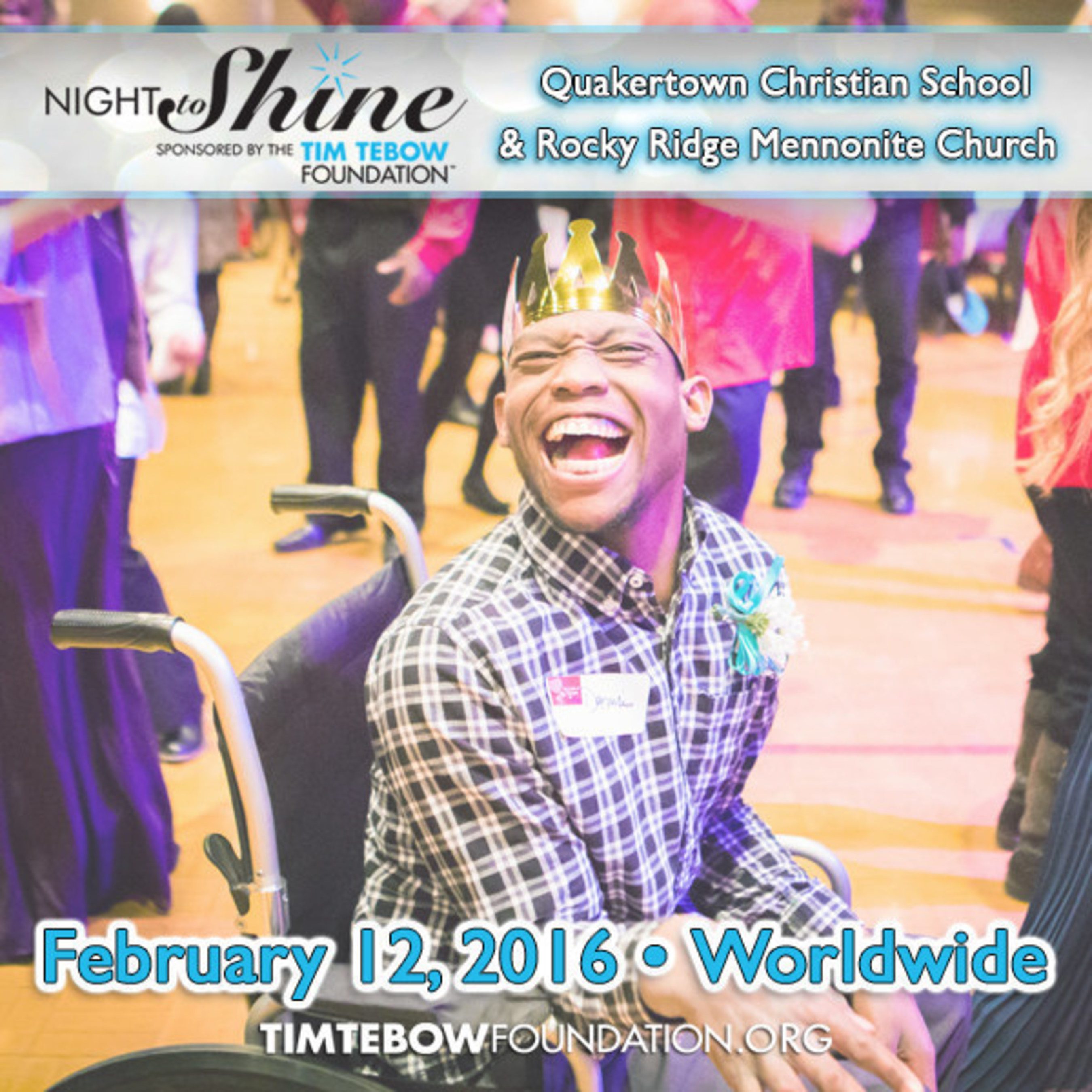 Quakertown Christian School in Partnership with Rocky Ridge Mennonite Church to Host Night to Shine
