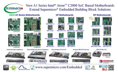 Supermicro(R) Intel Atom C2000 SoC Embedded Server Solutions @ Embedded World 2014. (PRNewsFoto/Super Micro Computer, Inc.) (PRNewsFoto/SUPER MICRO COMPUTER, INC.)