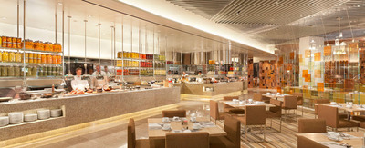 The new Bacchanal Buffet at Caesars Palace Las Vegas welcomed its first guests on Sept 11, 2012. Overlooking the world-famous Garden of the Gods pool oasis, Bacchanal Buffet serves more than 500 dishes daily in a 25,000 square foot modern and inviting space that seats 600.