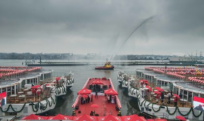 Viking River Cruises welcomed the latest additions to its fleet with the christening of six new Viking Longships(R) during a waterfront celebration in Amsterdam on March 1