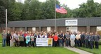 Associates at HEXPOL Compounding's Burton facility celebrate their ninth place ranking in The Cleveland Plain Dealer's 2015 Top 150 Workplaces listing.
