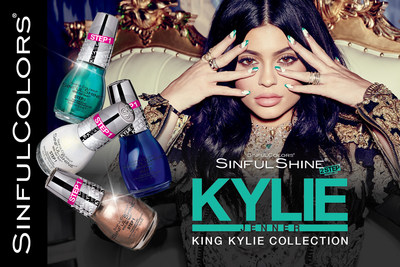 SinfulColors announces launch of limited-edition Kylie Jenner collection. King Kylie SinfulShine hits shelves March 2016.