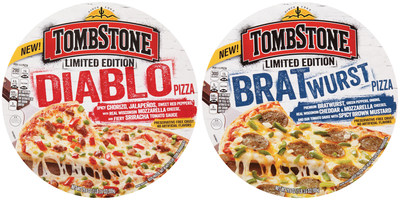 New Tombstone Limited Edition pizza flavors - Diablo and Bratwurst - are designed to celebrate the bold and are Tombstone's most unique pizza flavors yet.