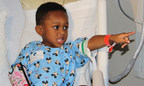 Four-year-old Da'Kaylen Lair couldn't leave his bed to join the parade so the parade come to his bedside.