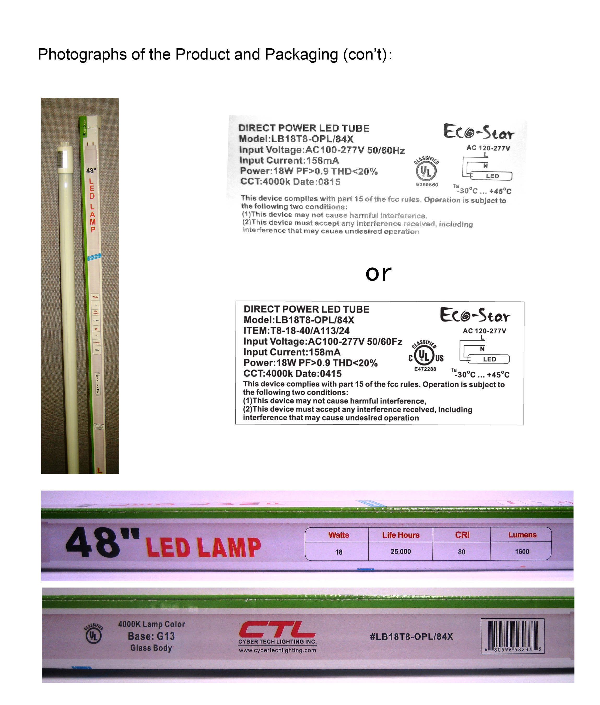 PUBLIC NOTICE: Foshan Warns of Unauthorized UL Mark on LED T8