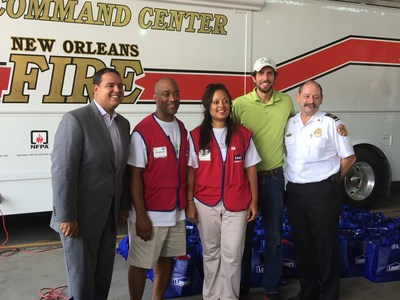 To mark Hurricane Katrina's 10th anniversary last year, Lowe's partnered with Rebuilding Together to revitalize New Orleans' Gentilly neighborhood, including a local firehouse. Immediately after the storm in 2005, Lowe's contributed $650,000 and employees helped restore 10 firehouses across the city.
