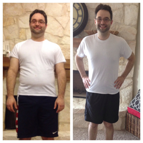 Before and After of Health Kwest Winner 2014 Blake Millier, who lost 76 lbs with Genghis Grill (PRNewsFoto/Genghis Grill)
