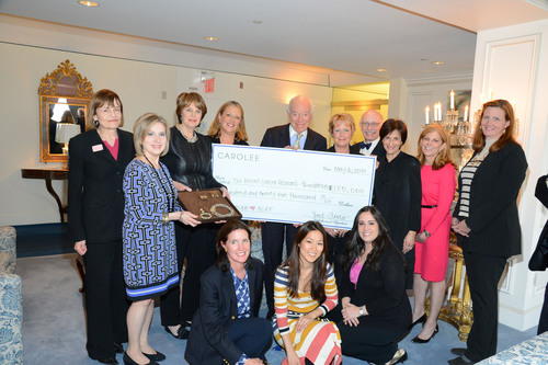 CAROLEE Marks 20 Year Partnership With The Breast Cancer Research Foundation With Presentation of Largest Annual Donation.  (PRNewsFoto/CAROLEE)