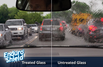EnduroShield Windshield Rain Repellent - Better visibility & safety for up to 1yr