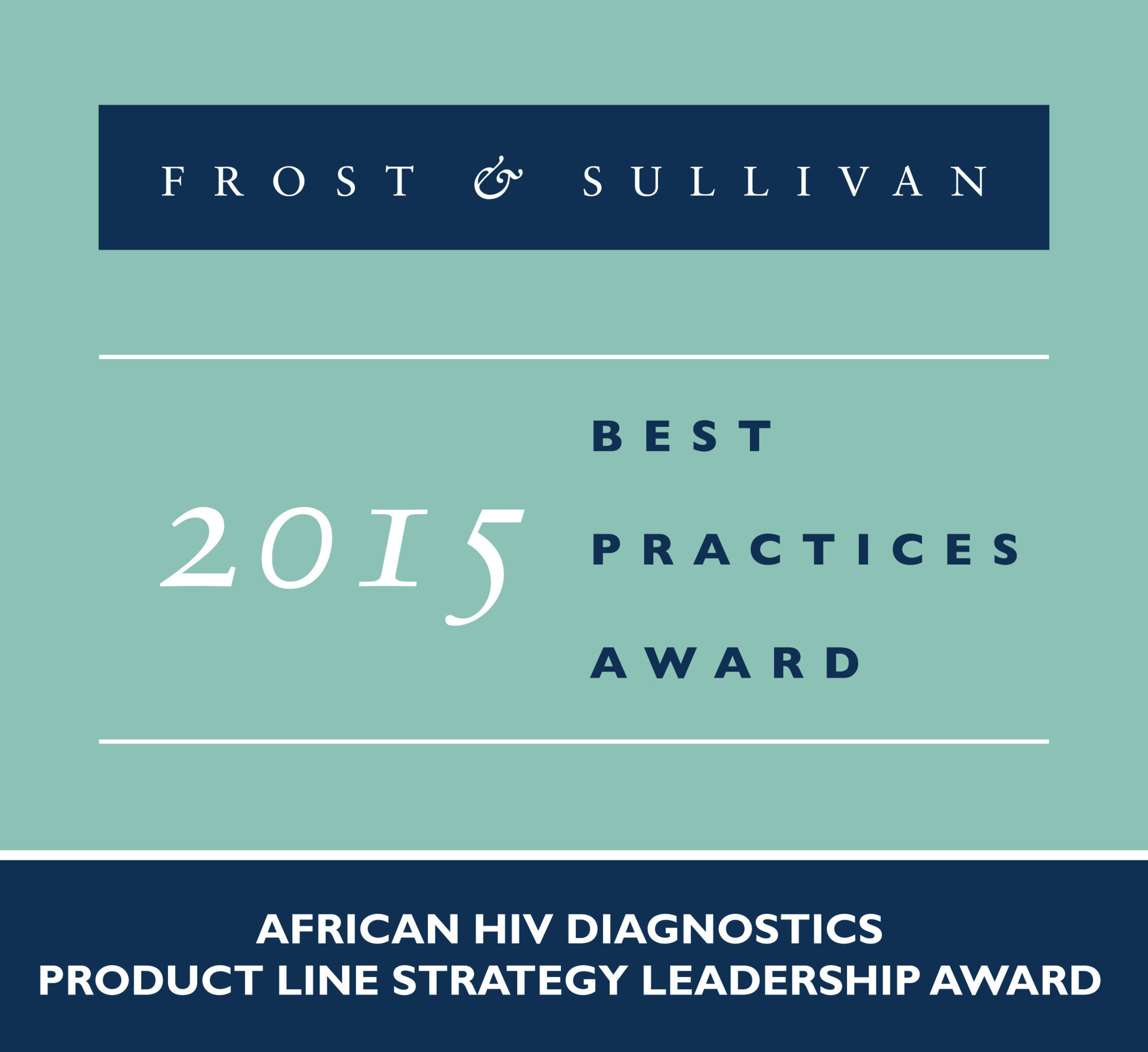 Frost & Sullivan Recognises Alere's Wide Palette of HIV Diagnostics Products with Cutting-edge