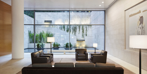 Lobby of the Centurion Condominium at 33 West 56th Street by I.M. Pei (PRNewsFoto/The Centurion Condominium) (PRNewsFoto/The Centurion Condominium)
