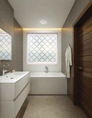 Baroque style privacy window in the Home Designer Collection from Hy-Lite.