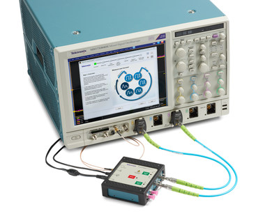 Various types of interconnects such as cables, fixtures, adapters or RF switches are used to connect the signals on a device under test (DUT) to an oscilloscope. As signal speeds increase, interconnects impact signal characteristics and can lead to distorted eye shapes due to ISI, parasitics, delay, impedance mismatch, losses and variability. Until now, characterizing and de-embedding interconnects has required expert know-how and the use of expensive specialized equipment. With the new Tektronix solution, even novice engineers can quickly and easily perform these tasks using a standard high-speed real-time oscilloscope.