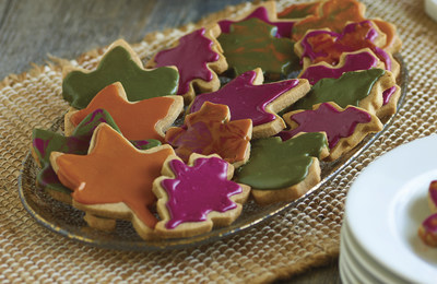 Photo courtesy of McCormick Glazed Autumn Leaf Cookies