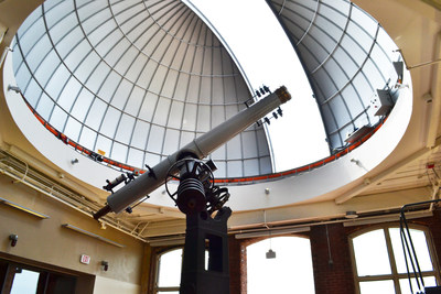 The South Carolina State Museum's new 2,500 square foot observatory will play a central role in the museum's new distance learning initiatives.  For the first time in the nation, remote access of a vintage telescope will be provided free-of-charge to every classroom across an entire state. Opening on Saturday, Aug. 16, the observatory is part of the museum's newly renovated facility that also features a planetarium and 4D theater.  Visit scmuseum.org to learn more. Photo credit: S.C. State Museum.