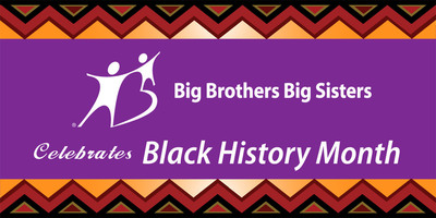 Big Brothers Big Sisters releases Black History Month Social Media Badge.  (PRNewsFoto/Big Brothers Big Sisters)