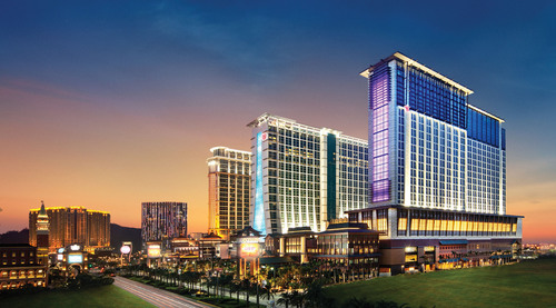 Exterior view of the 3,896-room, Polynesian-themed Sheraton Macao Hotel, Cotai Central, opening September 20 at  ...